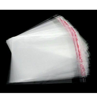 B07378: Clear Self Adhesive Seal Plastic Bags 12x9cm, 200 pieces [ B12 ]
