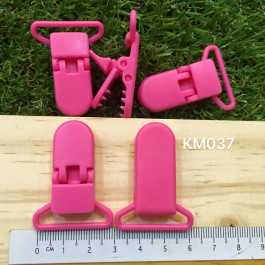 KM037: HOT PINK: Baby Pacifier Clip 30mm, 5 pieces/pack [ Z34 ]