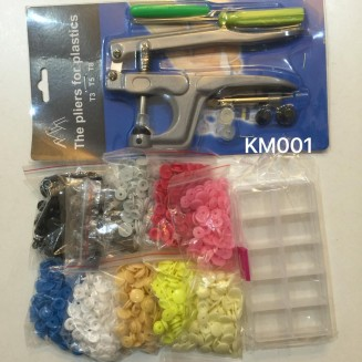 KM001: Snap Button Set: Plier Apprx 300 set button + Container