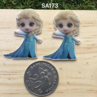 SA173: Cute Elsa 37x25mm, 5 pieces [ Z08 ]