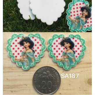SA187: Princess Jasmine 35x32mm, 5 pieces [ Z26 ]