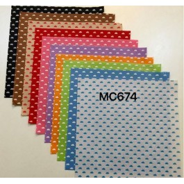 MC674: Cloud Printed 1mm Poly Felt 30x30cm, 10 pieces
