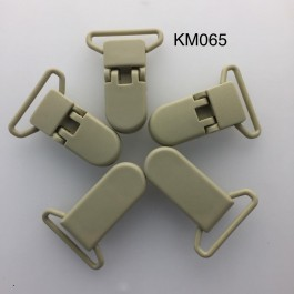 KM065: Brown: Baby Pacifier Clip 30mm, 5 pieces/pack
