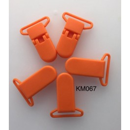 KM067: Dark Orange: Baby Pacifier Clip 30mm, 5 pieces/pack