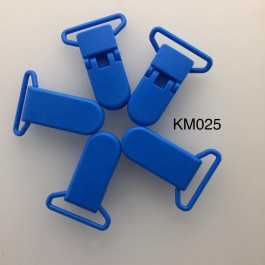 KM025: AEGEAN BLUE: Baby Pacifier Clip 30mm, 5 pieces/pack