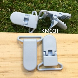 KM031: LIGHT BLUE: Baby Pacifier Clip 30mm, 5 pieces/pack