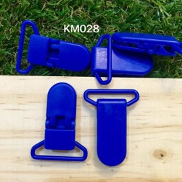 KM028: COBALT: Baby Pacifier Clip 30mm, 5 pieces/pack
