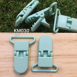KM030: MINT: Baby Pacifier Clip 30mm, 5 pieces/pack