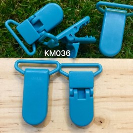 KM036: MISTY TURQUOISE: Baby Pacifier Clip 30mm, 5 pieces [ Z34 ]