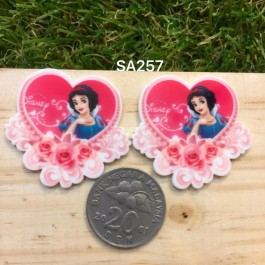SA257: SNOW WHITE 34x27mm, 5 pieces [ Z19 ]