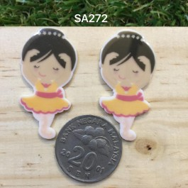SA272: BALLET 40x20mm, 5 pieces [ Z05 ]