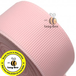 R117 LT PINK: 5 meter Grosgrain Ribbon Wedding DIY Craft Bow knot Perkahwinan Borong Balut Reben