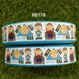 RB178: Cartoon Grosgrain Ribbon 22mm, 5Meter