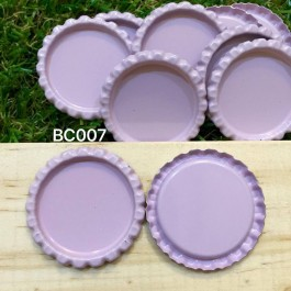 BC007: Pink: Bottle Cap, 10 pieces