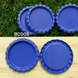 BC008: Blue: Bottle Cap, 10 pieces