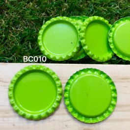 BC010: Green: Bottle Cap, 10 pieces