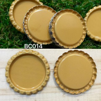 BC014: Caramel: Bottle Cap, 10 pieces