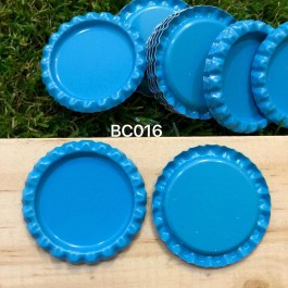 BC016: Aqua: Bottle Cap, 10 pieces