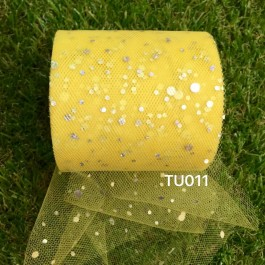 TU011: YELLOW: Glitter Tutu 3inch, 25yards