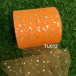 TU012: ORANGE: Glitter Tutu 3inch, 25yards