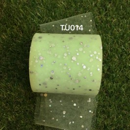 TU014: MINT: Glitter Tutu 3inch, 25yards
