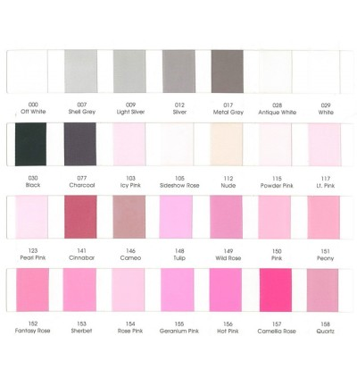 196 Colour Chart A4 Size (4 pages) Double Faced Satin Ribbon / Grosgrain Ribbon