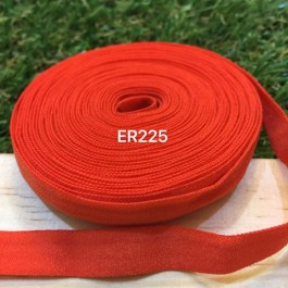 ER225: ORANGE RED: 10mm Elastic Ribbon 5meter