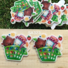 SA323: Shopkins Basket 35x30mm, 5 pieces [ Z06 ]