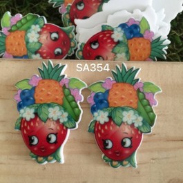 SA354: Shopkins Strawberry 37x28mm, 5 pieces [ Z06 ]