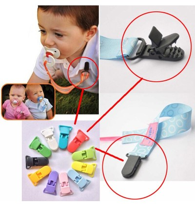KM258: MINERAL ICE: Baby Pacifier Clip 30mm, 5 pieces/pack