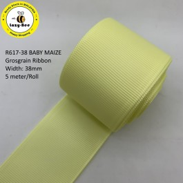 R617-38: BABY MAIZE: Grosgrain Ribbon 38mm, 5 meter