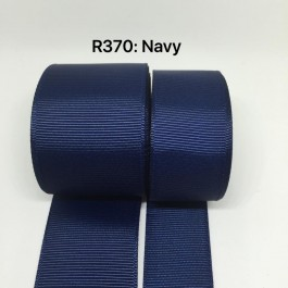 R370-38: NAVY: Grosgrain Ribbon 38mm, 5 meter