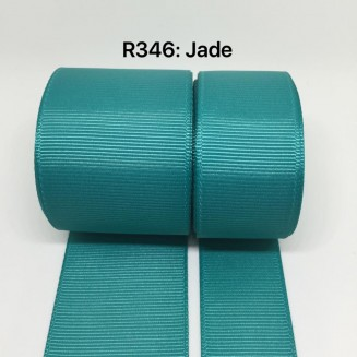 R346-38: JADE: Grosgrain Ribbon 38mm, 5 meter