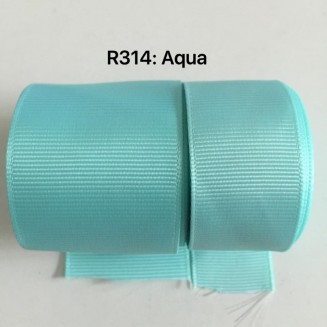 R314-38: AQUA: Grosgrain Ribbon 38mm, 5 meter