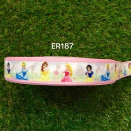 RB187: Princess Grosgrain Ribbon 22mm, 5Meter