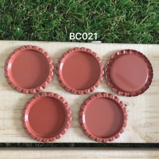 BC021: Brown: Bottle Cap, 10 pieces