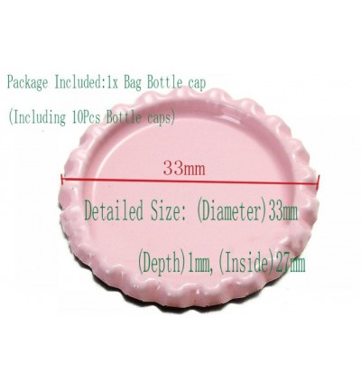BC022: Silver: Bottle Cap, 10 pieces