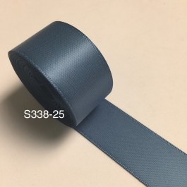 S338-25: ANTIQUE BLUE: Double Faced Satin Ribbon 25mm, 5Meter