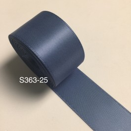 S363-25: SMOKE BLUE: Double Faced Satin Ribbon 25mm, 5Meter