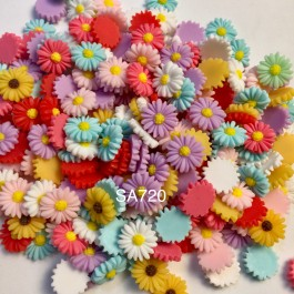 SA720: Chrysanthemum Resin 16mm, 20 pieces [ B8 ]