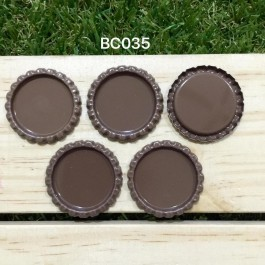 BC035: Coffee: Bottle Cap, 10 pieces