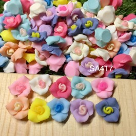 SA417: Flower Resin Cabochons 14.5x15mm, 50 pieces [ C1 ]