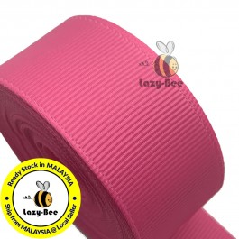 R156 HOT PINK: 5 meter Grosgrain Ribbon Wedding DIY Craft Bow knot Perkahwinan Borong Balut Reben