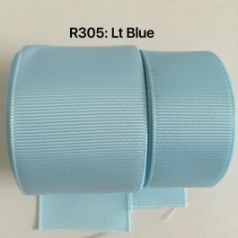 R305-25: LT BLUE: Grosgrain Ribbon 25mm, 5 meter