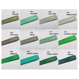 GREEN Tone 5 meter per color Premium Grosgrain Ribbon Wedding DIY Craft Bow knot Perkahwinan Balut Reben Gift Wrap
