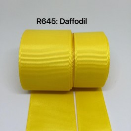 R645-25: DAFFODIL: Grosgrain Ribbon 25mm, 5 meter