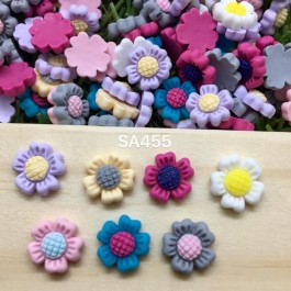 SA455: Mini Daisy Resin Flower 10mm, 50 pieces [ C9 ]
