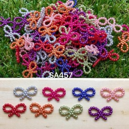 SA457: 50 pieces Acrylic Dyed Bow not 10x18mm [ B11 ]
