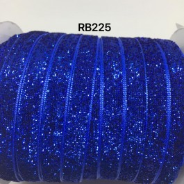 RB225: COBALT Glitter Grosgrain Ribbon 10mm, 5Meter