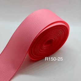 R150-25: PINK: Grosgrain Ribbon 25mm, 5Meter